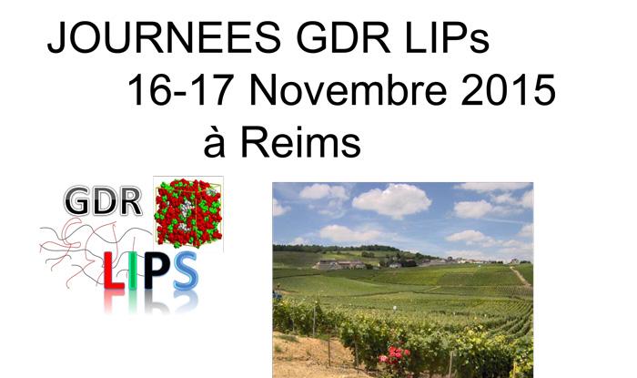 Journées scientifiques à Reims, les 16 et 17 novembre 2015